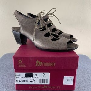 Munro Jillie Lace Up Heel Shoe Size 9 SS